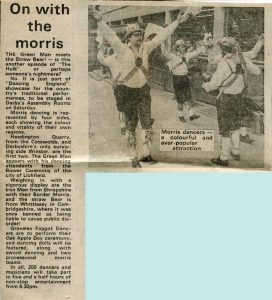 Evening Post article Foresters Morris Dancing England 1982